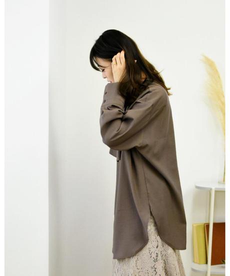 ラッフル ロングシャツ [213FB007]
