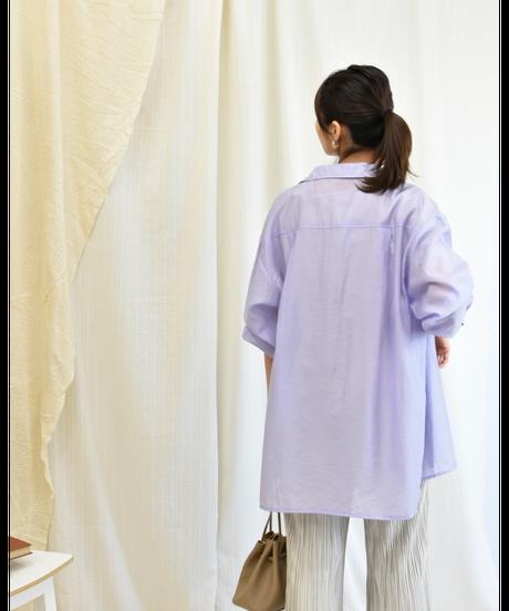ダブルポケット ワッシャーシアーシャツ lavender [204FB006-83]