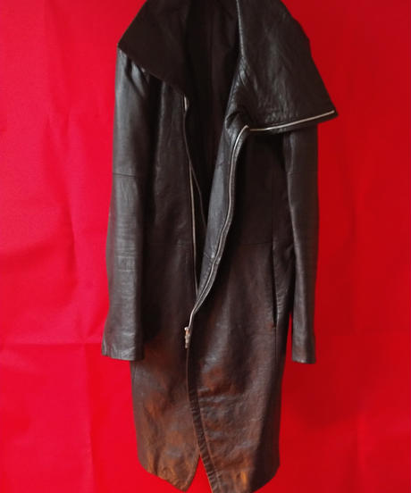 【No ID】Leather Coat (Used)