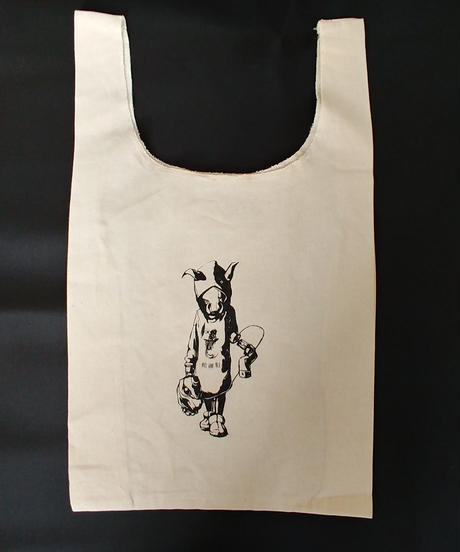 "【Bug Screaming】 ""MUTSUYO"" Tote Bag Natural White"