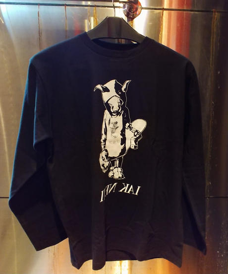 "【Bug Screaming】""MUTSUYO"" Long Sleeve Shirt (Boar) Black"