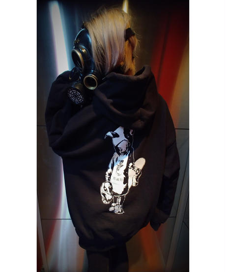 "【Bug Screaming】""MUTSUYO"" Hoodie Black"
