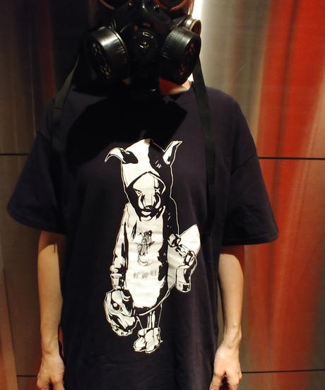 MUTSUYO Loose-Fitting Silhouette T Shirt Black