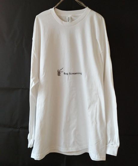 【Bug Screaming】 Original Long Sleeve T-Shirt White