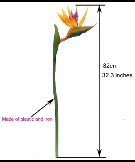 極楽鳥花 造花 カリフォルニアフラワー 5本セット ガーデンデコレーション