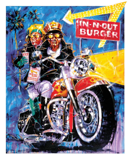 IN-N-OUT 1994 モトサイクルモデル Tシャツ