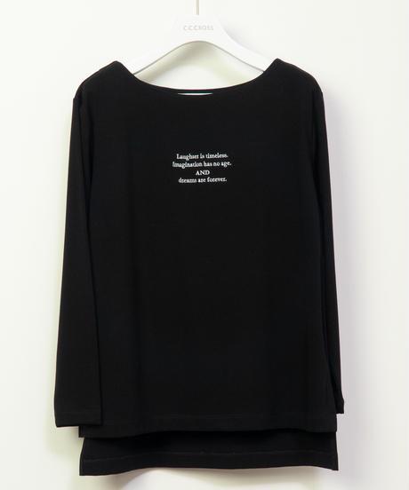 17410391 _ 刺繍ロゴ裏起毛ロンT