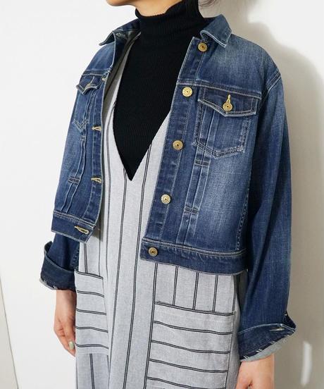 クロップデニムジャケット(2色展開)_15130211