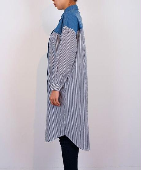 デニムパーツロングシャツ(3色展開)_12141024