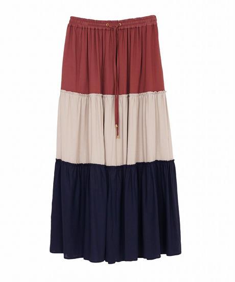 カラーブロックスカート(3色展開)_13251156