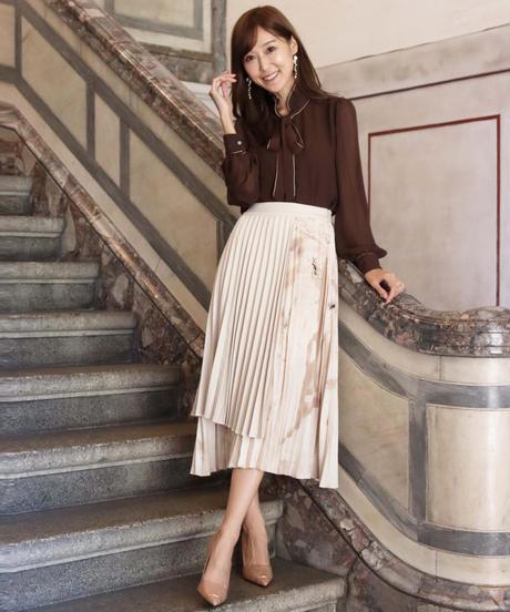 panel pleats skirt