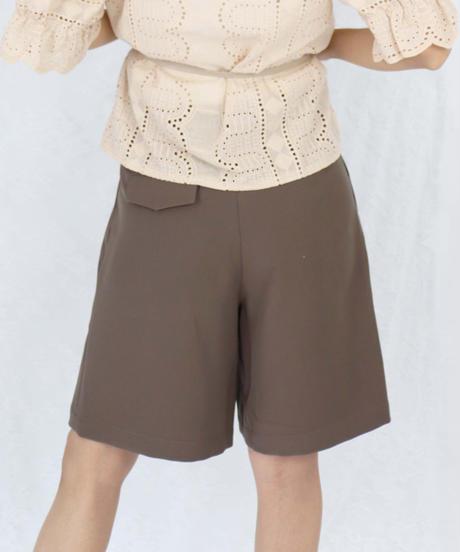 flare half pants