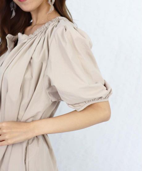volume sleeve cotton onepiece