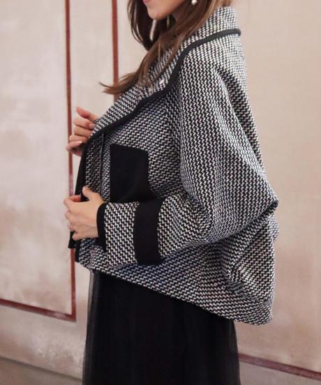 bi-color check coat