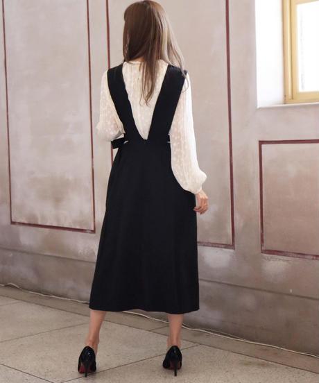 side ribbon jumper skirt