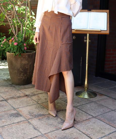 raffle frill check skirt