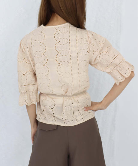 embroidery lace tunic