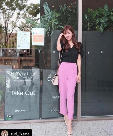 color cropped pants