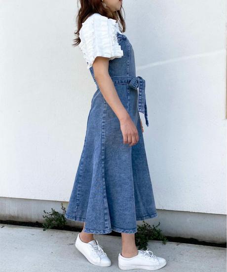 <再入荷>denim jumper skirt