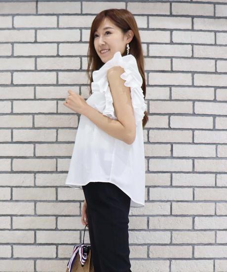 再再入荷<ruri ikeda produce >ruffle frill blouse