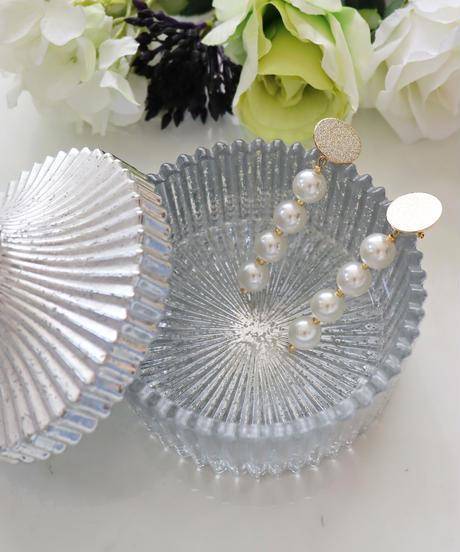 〈再入荷〉drop pearl earrings/pierce