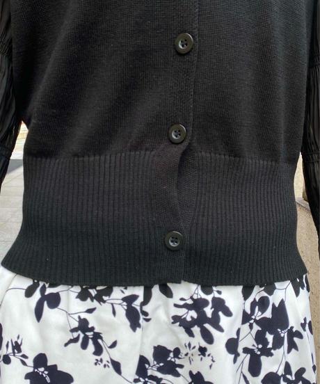 tiered sleeve cardigan