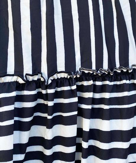 multi border skirt