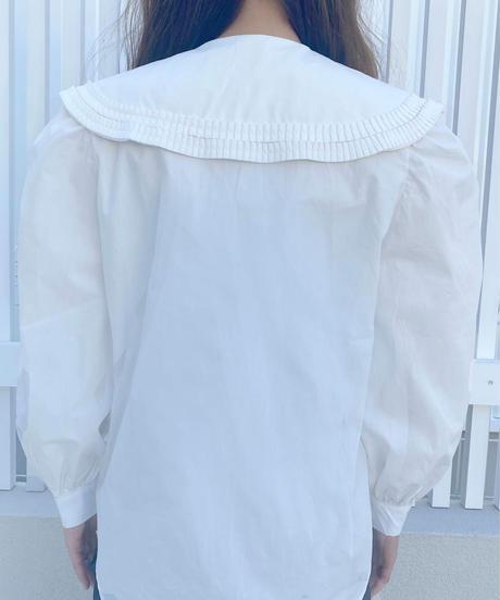 〈再入荷〉pleats collar blouse