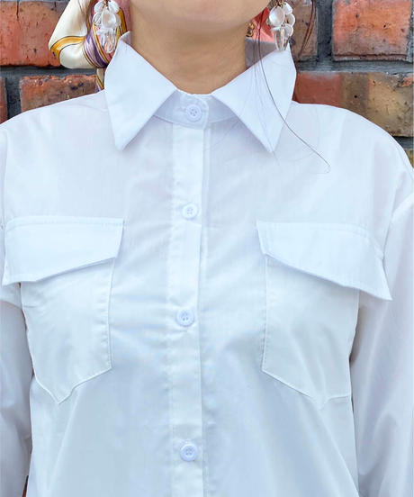 back race frill shirt