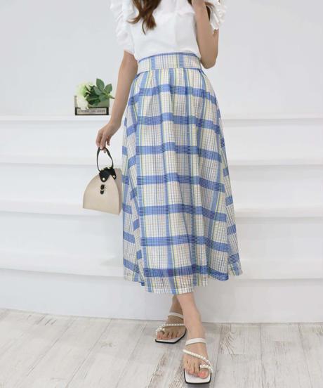madras check skirt