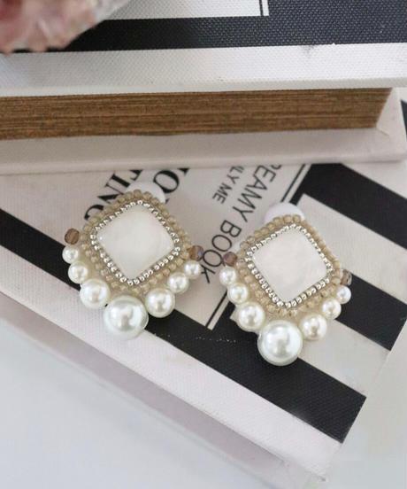 rhombus bijou earring