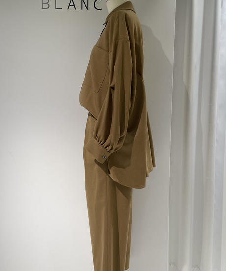 【Parc.1】Wool blend Stretch twill Shirt