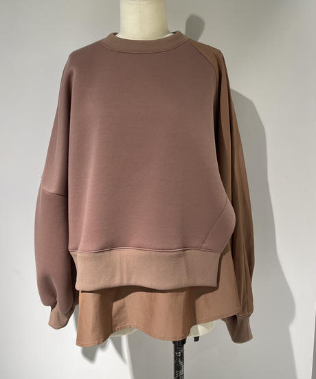 【Parc.1】Layered Double-knit TOPS