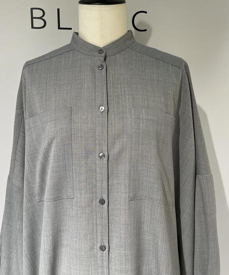 【Parc.1】Wool blend Stretch twill Shirt  One-piece