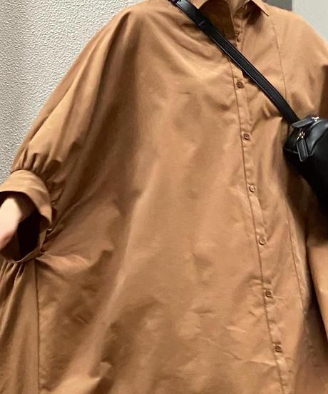 【Parc.1】Cotton Big silhouette Shirt one-piece
