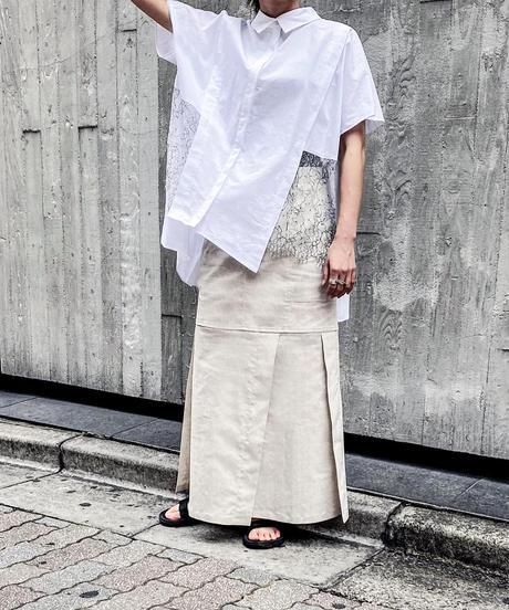 【Parc.1】Cotton × Lace layered  Blouse