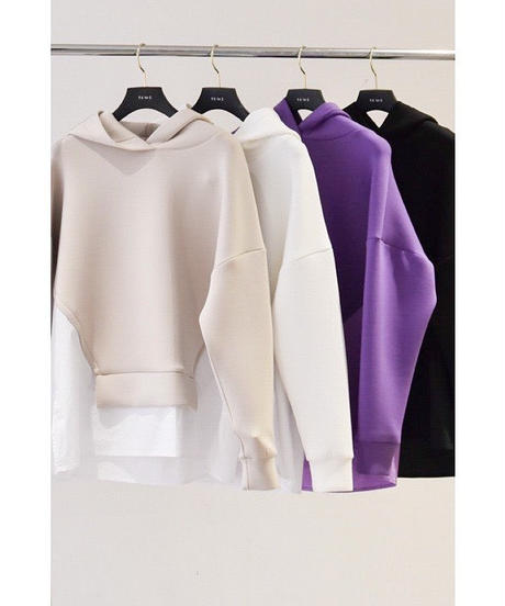 【Parc.1】Punch× Shirt tail hoody Tops