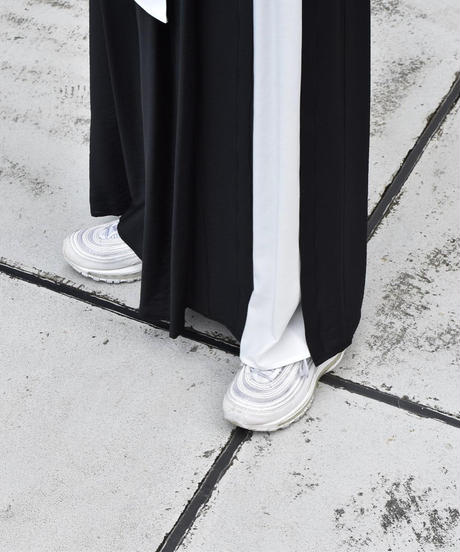【Parc.1】By color long Flare Skirt