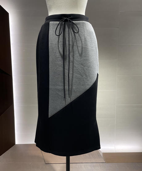 【Pearl button】Double-knit Skirt