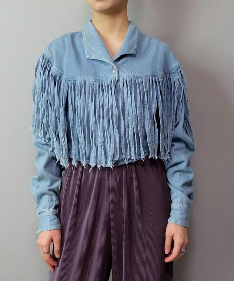 Vintage   Denim Fringe Shirt
