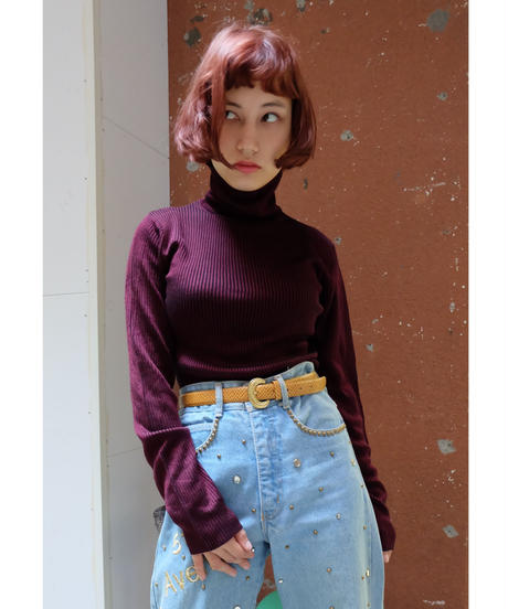 VINTAGE   Rib Hi neck TOPS