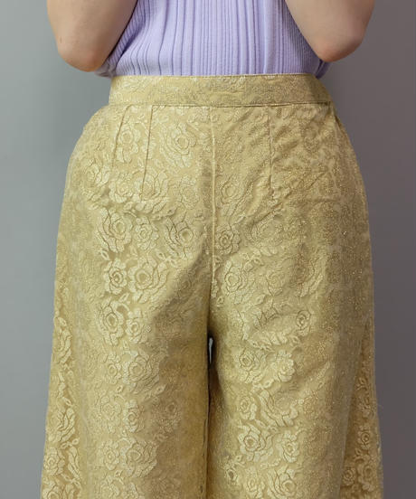 Vintage  Rose Lace Wide Pants