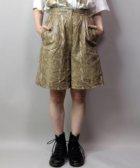 Vintage   Python Leather Short Pants