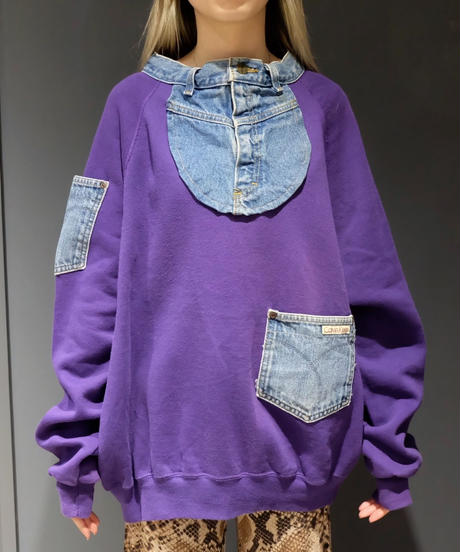 Vintage  Denim Sweat
