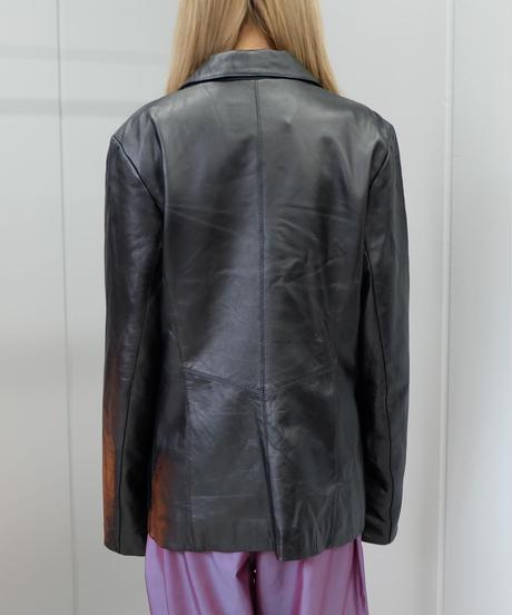 Vintage   Leather  Tailored Jacket