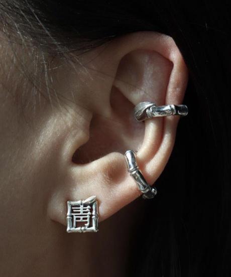 momentel jewelry  竹 earcuff