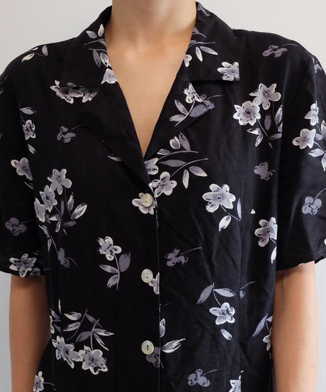 VINTAGE   FLOWER SHIRT ONEPICE