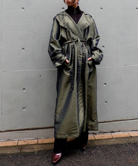 Vintage   Shiny Trench Coat