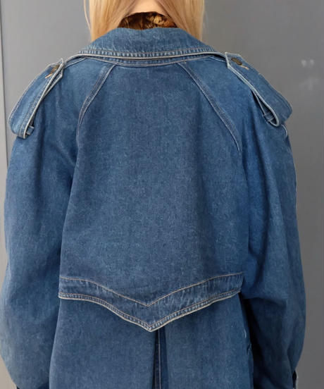 Vintage   Denim Trench Coat