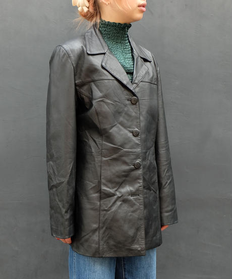 Vintage   Leathe  Tailored Jacket
